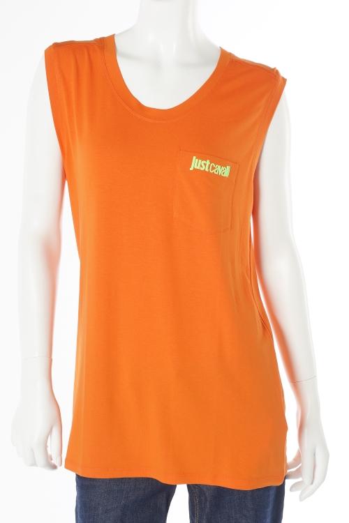 ジャストカヴァリ ジャストカバリ JUST CAVALLI Tシャツ タンクトップ レディース GC0084 20597 オレンジ 楽ギフ_包装 送料無料 【ラッキーシール対応】