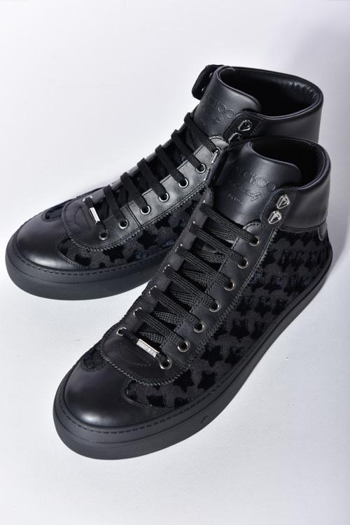 ジミーチュウ JIMMY CHOO スニーカー ハイカット 靴 メンズ 161 ARGYLE TFT ブラック 送料無料