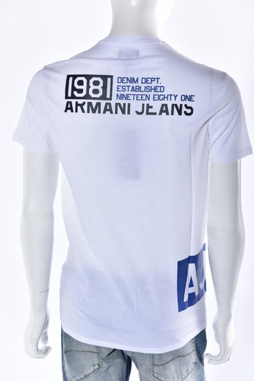 アルマーニ アルマーニジーンズ ARMANI JEANS アルマーニ ジーンズ Tシャツ 半袖 Vネック メンズ C6H17 LL ホワイト 送料無料 楽ギフ_包装 【ラッキーシール対応】
