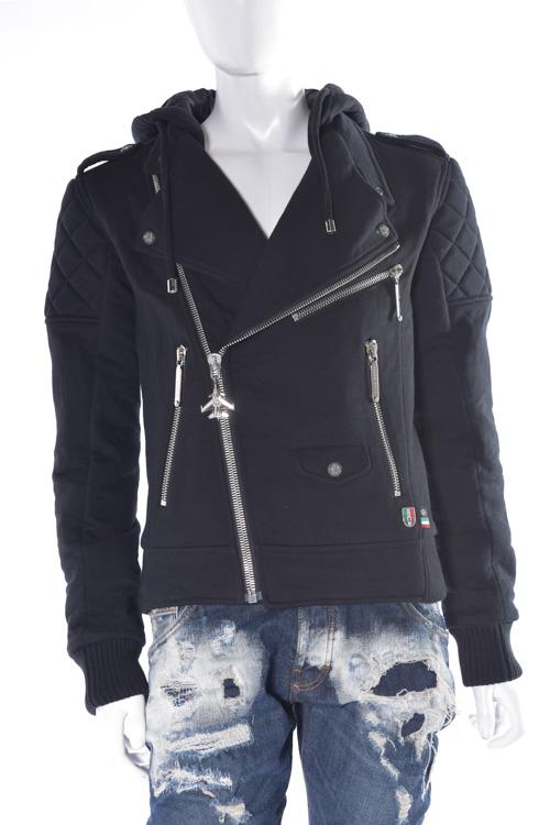 フィリッププレイン PHILIPP PLEIN ブルゾン ライダースジャケット sweat jacket ferry pass メンズ FW16 HM661298 ブラック 送料無料 SALE16AW2 【ラッキーシール対応】