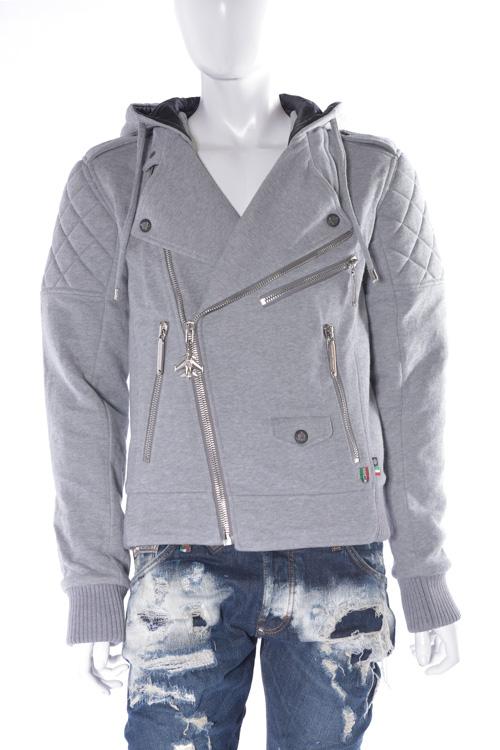 フィリッププレイン PHILIPP PLEIN ブルゾン ライダースジャケット sweat jacket ferry pass メンズ FW16 HM661298 グレー 送料無料 SALE16AW2 【ラッキーシール対応】
