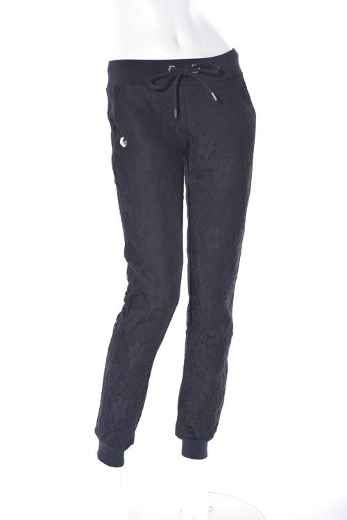 フィリッププレイン PHILIPP PLEIN トレーナーパンツ スウェットパンツ jogging trousers the best レディース FW16 CW680908 ブラック×ブラック 送料無料 楽ギフ_包装