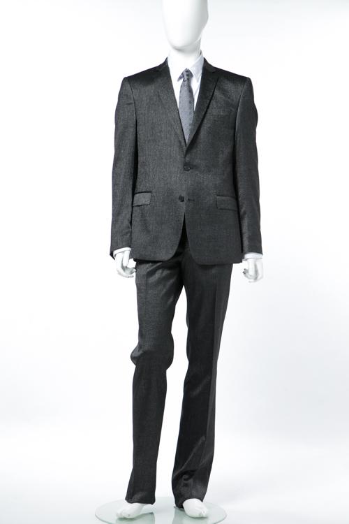 ヴェルサーチコレクション VERSACE COLLECTION スーツ 2つボタン サイドベンツ シングル メンズ V1S0028 VT00059 ブラック 送料無料 【ラッキーシール対応】