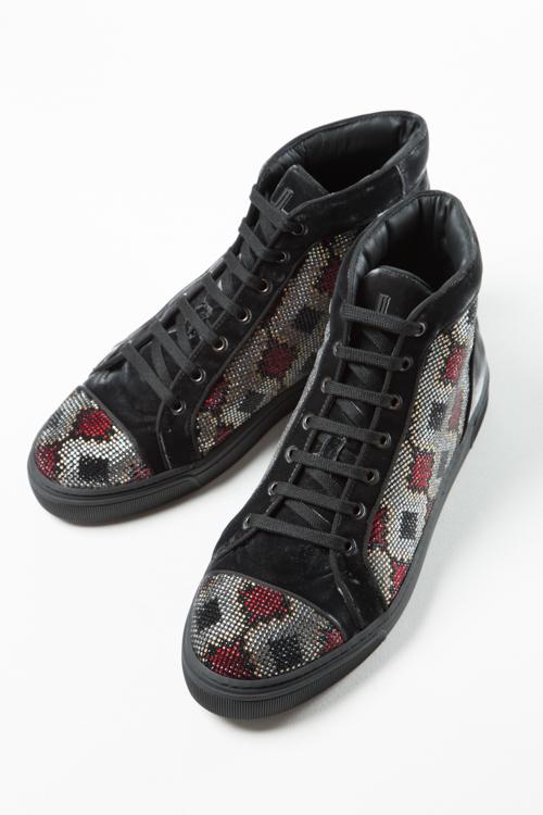 ルイリーマン LOUIS LEEMAN スニーカー ハイカット シューズ 靴 メンズ LL0285 ブラック 送料無料