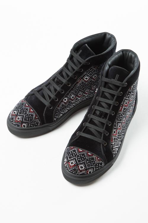 ルイリーマン LOUIS LEEMAN スニーカー ハイカット シューズ 靴 メンズ LL0286 ブラック 送料無料