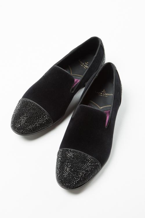 ルイリーマン LOUIS LEEMAN シューズ スリッポン 靴 メンズ LL0358 ブラック 送料無料