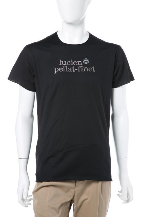 ルシアンペラフィネ lucien pellat-finet ペラフィネ Tシャツ 半袖 丸首 メンズ EVH1886 ブラック 送料無料 楽ギフ_包装 LPF値下 【ラッキーシール対応】