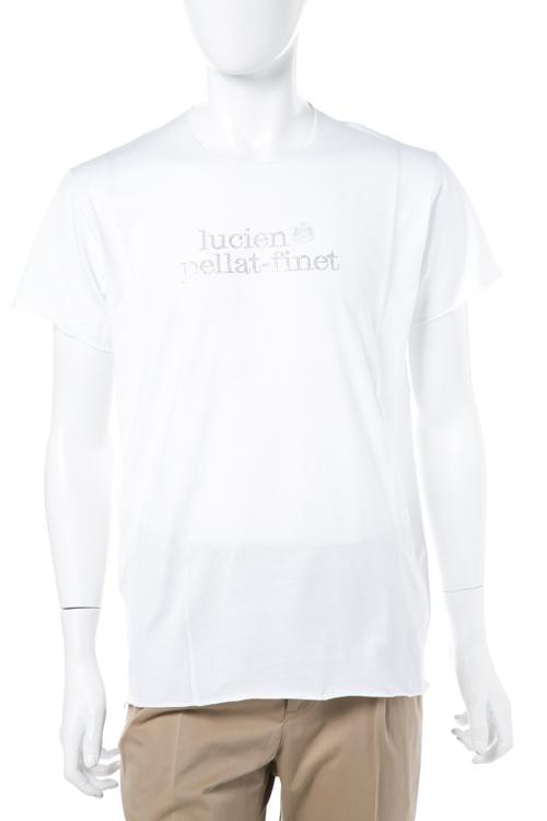 ルシアンペラフィネ lucien pellat-finet ペラフィネ Tシャツ 半袖 丸首 メンズ EVH1886 ホワイト 送料無料 楽ギフ_包装 LPF値下 【ラッキーシール対応】