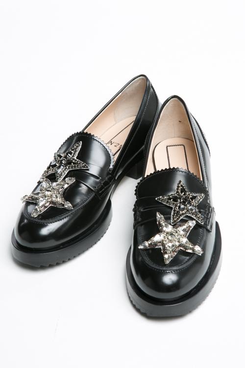ヌメロヴェントゥーノ N°21 シューズ ローファー 靴 レディース 8064 ブラック 送料無料