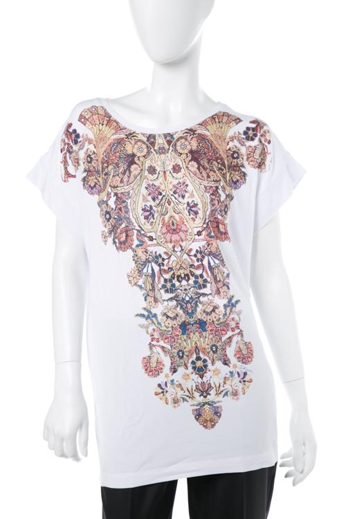 ジャストカヴァリ ジャストカバリ JUST CAVALLI Tシャツ 半袖 丸首 レディース GC0137 20597 ホワイト 送料無料 楽ギフ_包装 【ラッキーシール対応】