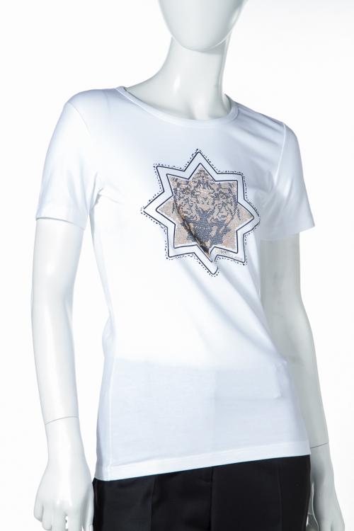 クラスロベルトカヴァリ class roberto cavalli Tシャツ 半袖 丸首 TEODORA レディース 15I CD386 ホワイト 送料無料 楽ギフ_包装