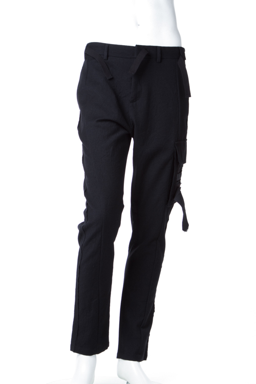 2016年秋冬新作 ヌメロヴェントゥーノ N°21 パンツ カーゴパンツ メンズ B053 3108 ブラック 送料無料 楽ギフ_包装 SALE16AW2 【ラッキーシール対応】