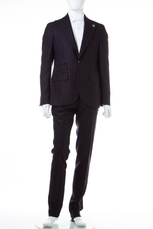 ハイドロゲン HYDROGEN スーツ 2つボタン サイドベンツ シングル メンズ 190304 ボルドー 送料無料 【ラッキーシール対応】