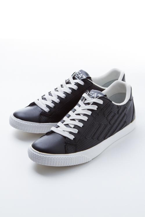 アルマーニ エンポリオアルマーニ Emporio Armani EA7 スニーカー ローカット 靴 メンズ 278043 6P299 ブラック 送料無料 目玉商品