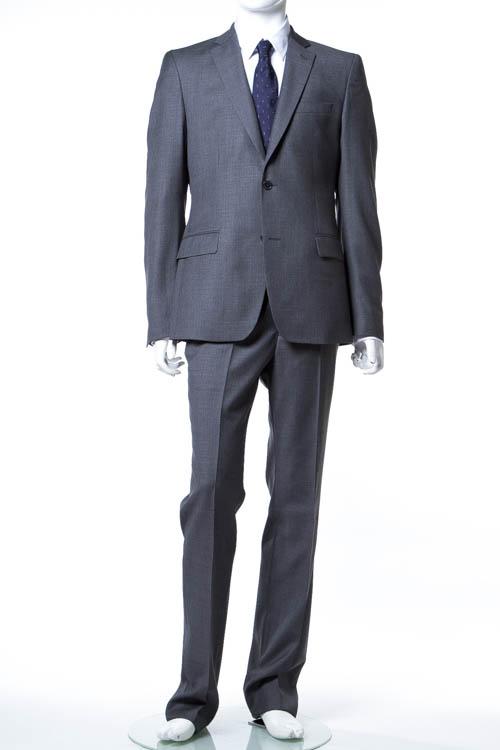 ヴェルサーチコレクション VERSACE COLLECTION スーツ 2つボタン サイドベンツ シングル メンズ V100028 VT00843 グレー 送料無料 アウトレット 【ラッキーシール対応】