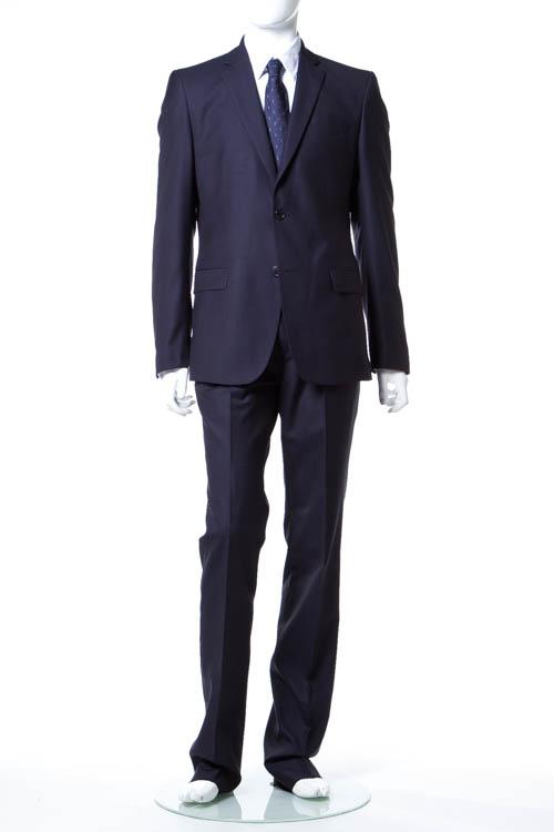 ヴェルサーチコレクション VERSACE COLLECTION スーツ 2つボタン サイドベンツ シングル メンズ V100028 VT00849 ネイビー 送料無料 アウトレット 【ラッキーシール対応】