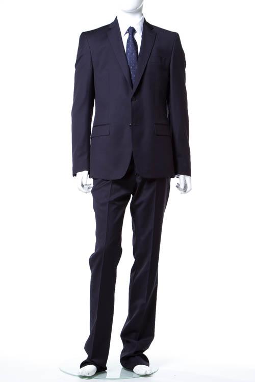 ヴェルサーチコレクション VERSACE COLLECTION スーツ 2つボタン サイドベンツ シングル メンズ V100028 VT00852 ネイビー 送料無料 アウトレット 【ラッキーシール対応】