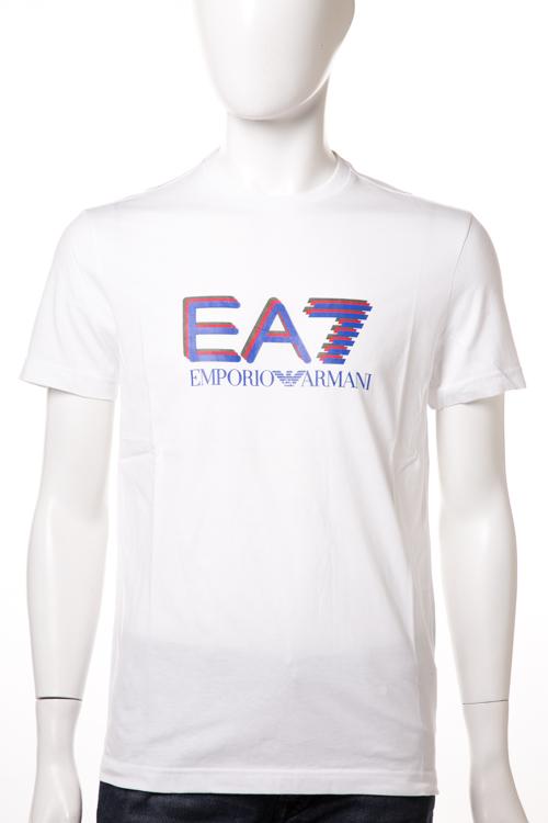 アルマーニ エンポリオアルマーニ Emporio Armani EA7 Tシャツ 半袖 丸首 メンズ 6XPT56 PJ02Z ホワイト 送料無料 楽ギフ_包装 【ラッキーシール対応】