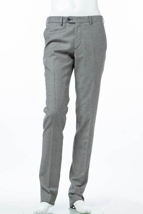 ハイドロゲン HYDROGEN パンツ スラックス メンズ 190312 ブラック×ホワイト 送料無料 【ラッキーシール対応】