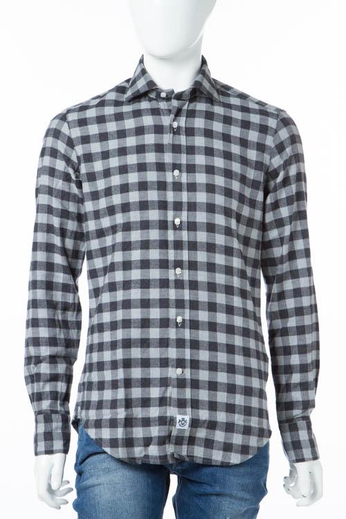 ハイドロゲン HYDROGEN シャツ 長袖 ネルシャツ メンズ 190426 ブラック×グレー 送料無料 【ラッキーシール対応】