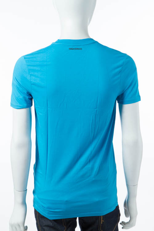 ディースクエアード DSQUARED2 Tシャツアンダーウェア Tシャツ 半袖 Vネック メンズ D9M450910 ブルー 送料無料 DSQ限定特価 【ラッキーシール対応】