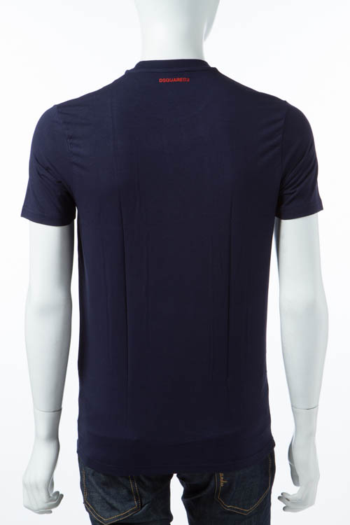 ディースクエアード DSQUARED2 Tシャツアンダーウェア Tシャツ 半袖 丸首 メンズ D9M200910 ネイビー 送料無料 DSQ限定特価 【ラッキーシール対応】