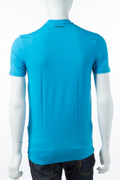 ディースクエアード DSQUARED2 Tシャツアンダーウェア Tシャツ 半袖 丸首 メンズ D9M200910 ブルー 送料無料 DSQ限定特価 【ラッキーシール対応】