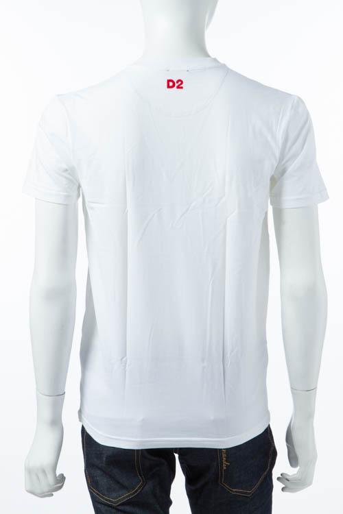 ディースクエアード DSQUARED2 Tシャツアンダーウェア Tシャツ 半袖 Vネック メンズ D9M450890 ホワイト DSQ限定特価 【ラッキーシール対応】