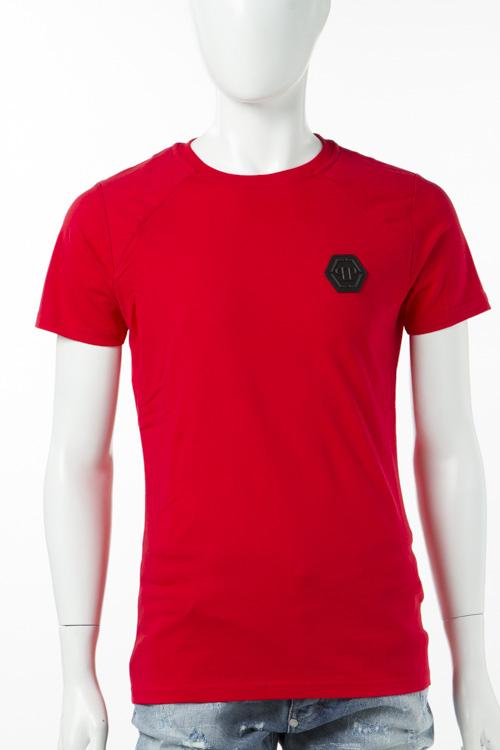 フィリッププレイン PHILIPP PLEIN Tシャツ 半袖 丸首 メンズ S17C MTK0074 レッド 送料無料 楽ギフ_包装 2017SS_SALE 【ラッキーシール対応】