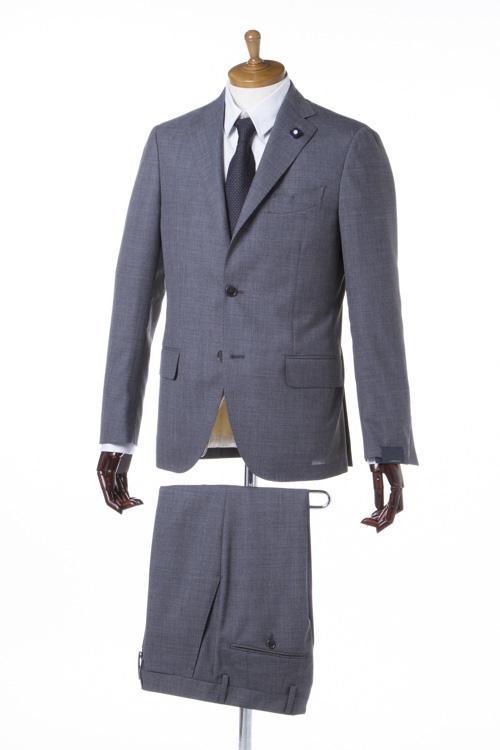 ラルディーニ LARDINI スーツ 2つボタン サイドベンツ シングル ブートニエール メンズ EA801AQ 46495 グレー 送料無料 【ラッキーシール対応】