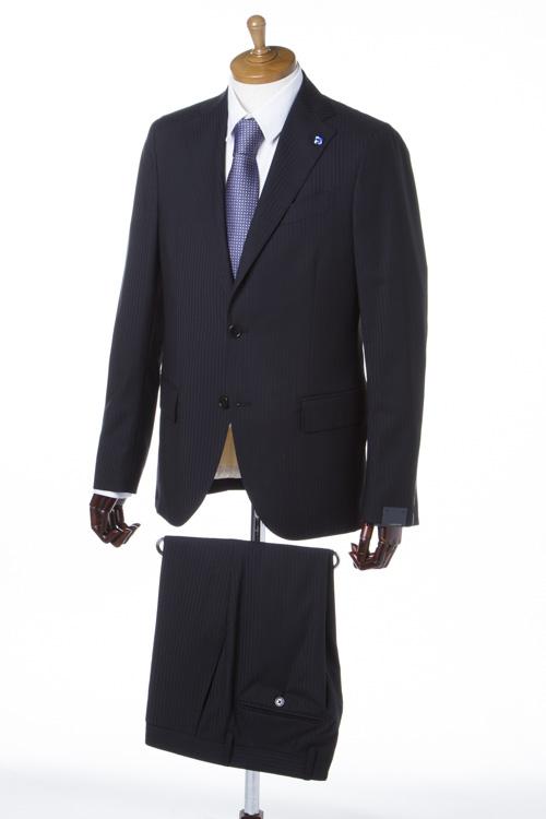 ラルディーニ LARDINI スーツ 2つボタン サイドベンツ シングル ブートニエール メンズ EA722AQ 46304 ブラック 送料無料 一押値下 【ラッキーシール対応】