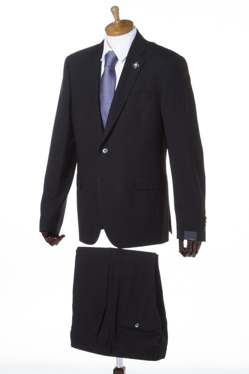 ラルディーニ LARDINI スーツ 2つボタン サイドベンツ シングル ブートニエール メンズ EA78210AV 46404 ブラック 送料無料 【ラッキーシール対応】
