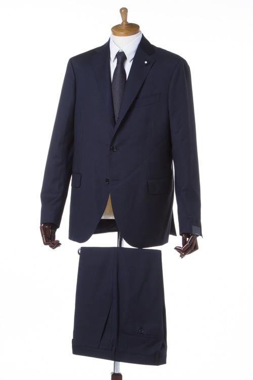 ラルディーニ LARDINI スーツ 2つボタン サイドベンツ シングル ブートニエール メンズ IC850AQ 47413 ネイビー 送料無料 SALE16AW 【ラッキーシール対応】