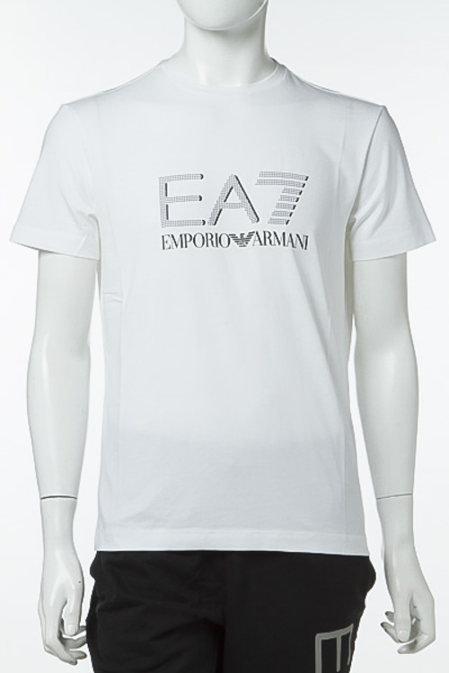 エンポリオアルマーニ Emporio Armani EA7 Tシャツ 半袖 丸首 メンズ 3YPTF7 PJ18Z ホワイト 送料無料 楽ギフ_包装 【ラッキーシール対応】