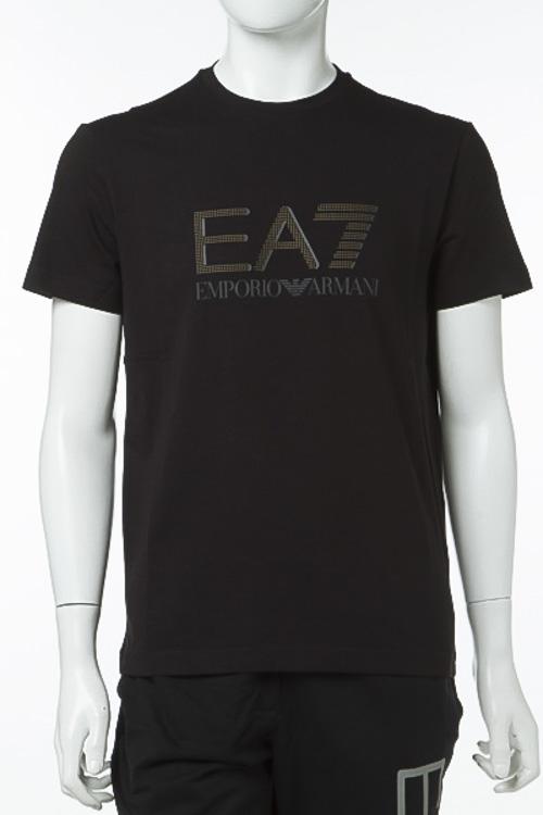 エンポリオアルマーニ Emporio Armani EA7 Tシャツ 半袖 丸首 メンズ 3YPTF7 PJ18Z ブラック 送料無料 楽ギフ_包装 【ラッキーシール対応】
