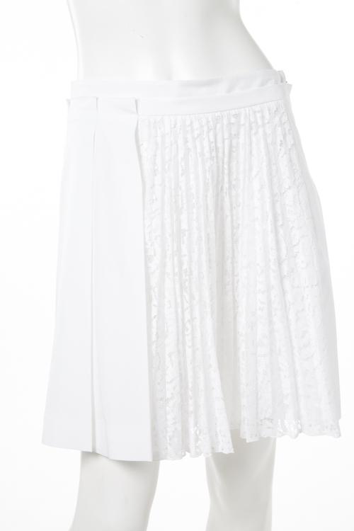 ヌメロヴェントゥーノ N°21 スカート プリーツスカート レディース C091 0696 ホワイト 送料無料 楽ギフ_包装 2017SS_SALE