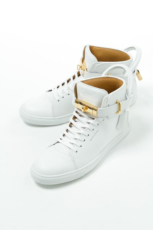 ブシェミ BUSCEMI スニーカー ハイカット シューズ 靴 メンズ 417SM100LW010A ホワイト 送料無料 2019AW_SALE