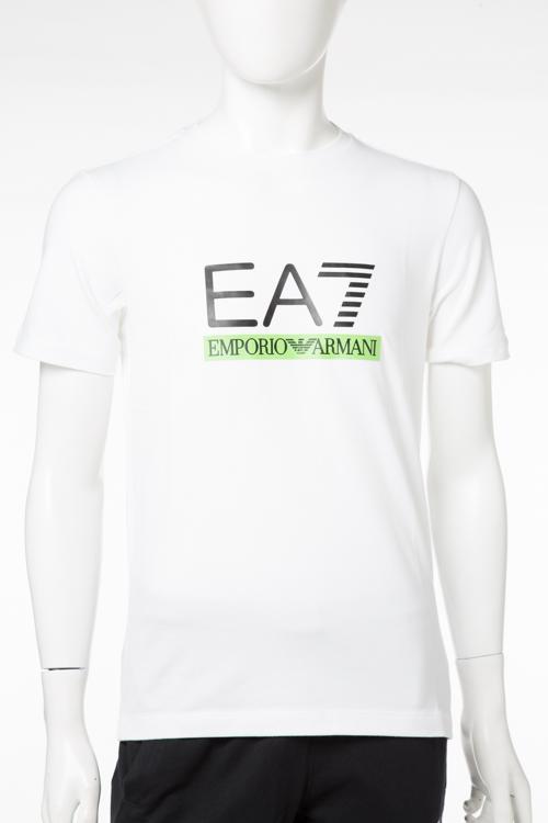 アルマーニ エンポリオアルマーニ Emporio Armani EA7 Tシャツ 半袖 丸首 メンズ 3YPTM1 PJ20Z ホワイト 送料無料 楽ギフ_包装 【ラッキーシール対応】