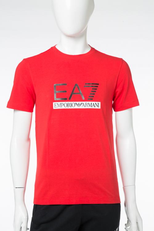 アルマーニ エンポリオアルマーニ Emporio Armani EA7 Tシャツ 半袖 丸首 メンズ 3YPTM1 PJ20Z レッド 送料無料 楽ギフ_包装 【ラッキーシール対応】