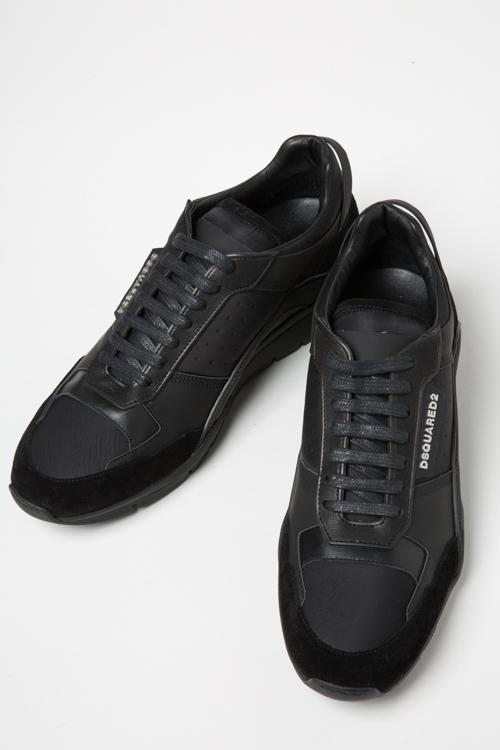 ディースクエアード DSQUARED2 スニーカー ローカット シューズ 靴 GOMMATO+VELOUR メンズ S17SN4371176 ブラック 送料無料 2017SS_SALE