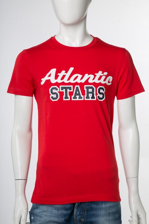 アトランティックスターズ ATLANTIC STARS Tシャツ 半袖 丸首 メンズ U-09 レッド 送料無料 楽ギフ_包装 2017SS_SALE 【ラッキーシール対応】