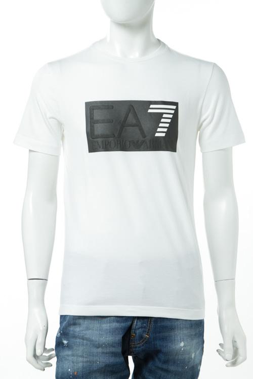 アルマーニ エンポリオアルマーニ Emporio Armani EA7 Tシャツ 半袖 丸首 メンズ 3YPTM0 PJ20Z ホワイト 送料無料 楽ギフ_包装 【ラッキーシール対応】