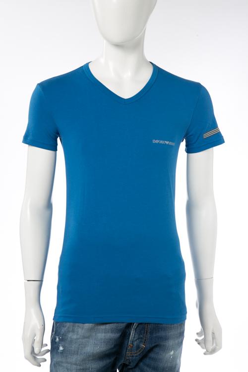 アルマーニ エンポリオアルマーニ Emporio Armani Tシャツアンダーウェア Tシャツ 半袖 Vネック メンズ 110810 7P723 ブルー 送料無料 楽ギフ_包装 【ラッキーシール対応】