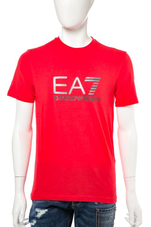 アルマーニ エンポリオアルマーニ Emporio Armani EA7 Tシャツ 半袖 丸首 メンズ 3YPTB3 PJ03Z レッド 送料無料 楽ギフ_包装 【ラッキーシール対応】