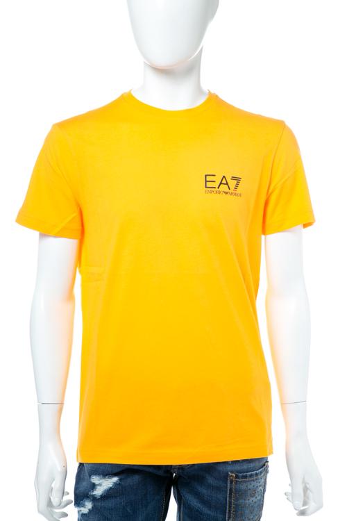 アルマーニ エンポリオアルマーニ Emporio Armani EA7 Tシャツ 半袖 丸首 メンズ 3YPT51 PJ02Z オレンジ 送料無料 楽ギフ_包装 【ラッキーシール対応】