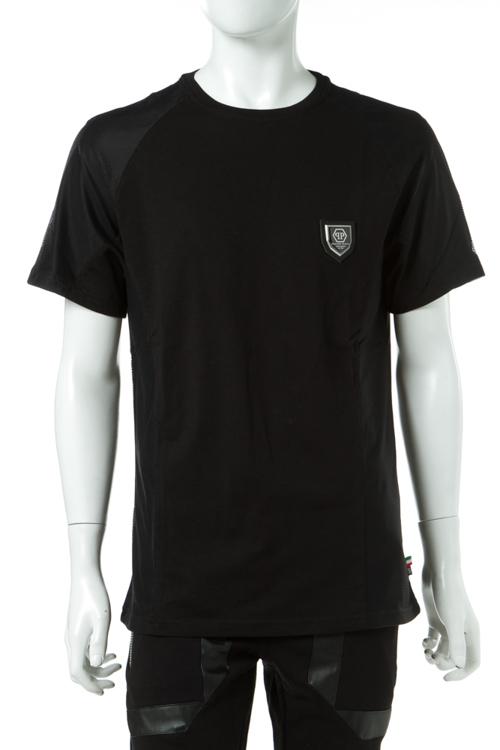フィリッププレイン PHILIPP PLEIN Tシャツ 半袖 丸首 メンズ P17C MTK0272 ブラック×ブラック 送料無料 楽ギフ_包装 2017SS_SALE 【ラッキーシール対応】