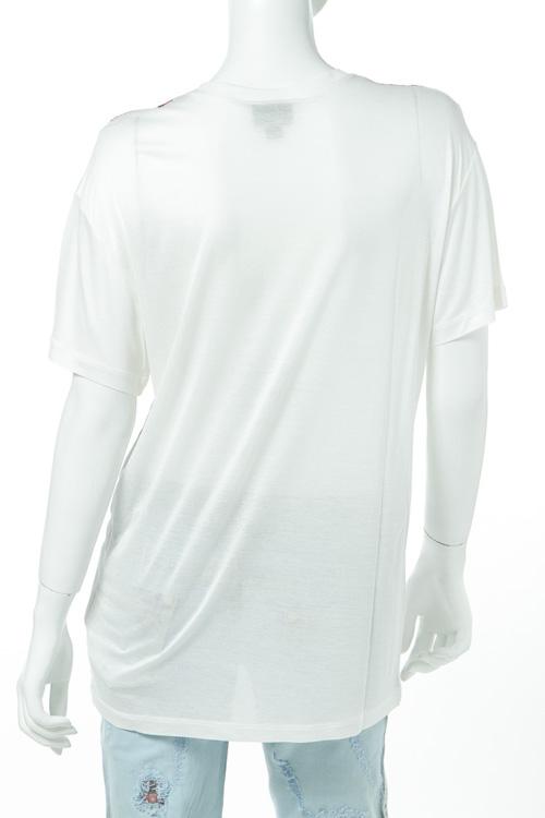 ジャストカヴァリ ジャストカバリ JUST CAVALLI Tシャツ 半袖 丸首 レディース GC0054 20825 ホワイト 送料無料 楽ギフ 包装3j54ARLcq
