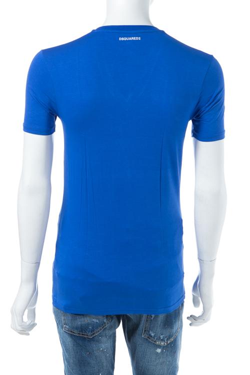 ディースクエアード DSQUARED2 Tシャツアンダーウェア Tシャツ 半袖 Vネック メンズ D9M450590 ブルー 送料無料 楽ギフ_包装 【ラッキーシール対応】