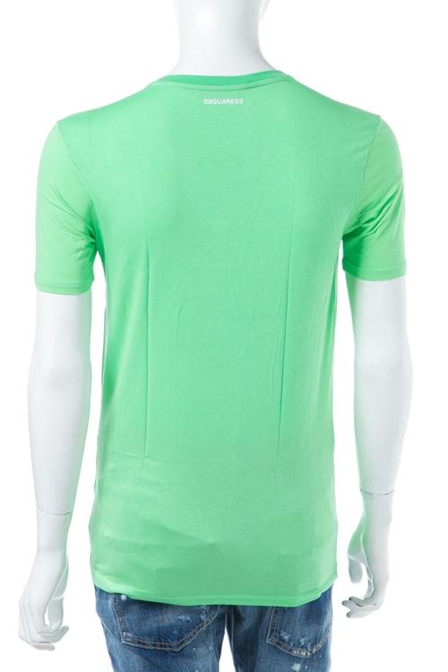 ディースクエアード DSQUARED2 Tシャツアンダーウェア Tシャツ 半袖 Vネック メンズ D9M450590 グリーン 送料無料 楽ギフ_包装 【ラッキーシール対応】