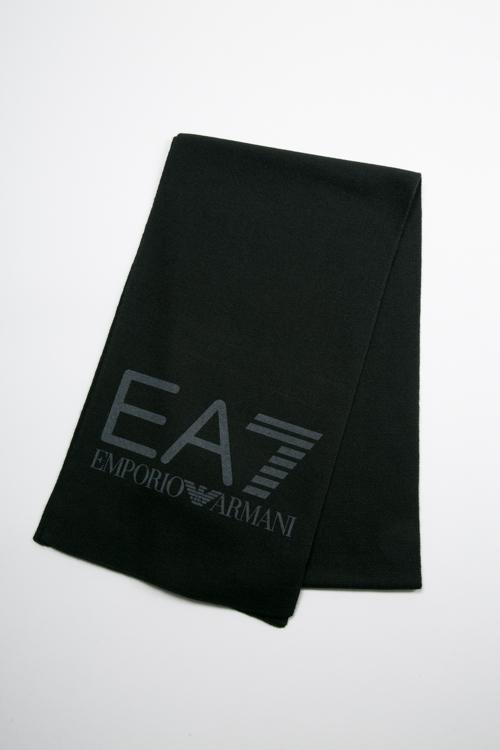 アルマーニ エンポリオアルマーニ Emporio Armani EA7 マフラー 275714 7A393 ブラック 送料無料 楽ギフ_包装 【ラッキーシール対応】
